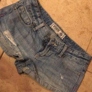 Pink brand jean shorts